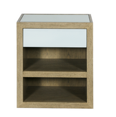 Worlds Away Duncan Limed Oak and Translucent Ice Side Table