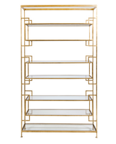 Worlds Away Lamar Gold Leafed Etagere