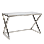 Worlds Away Mark Nickel Plated Desk-Console