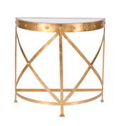 Worlds Away Grove Gold Leafed Studded Console