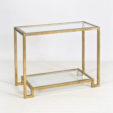 Worlds Away Lyle Gold Leafed Console