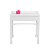 Worlds Away Night right White Side Table