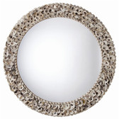 Arteriors Kipling Authentic Oyster Shell Round Mirror