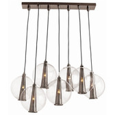 Arteriors Caviar Light Pendant-Brown Nickel