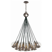 Arteriors Caviar Adjustable Bouquet-Brown Nickel