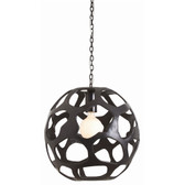 Arteriors Ennis Black Oxidized Iron Pendant-Large