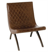 Arteriors Danforth Chestnut Quilted Leather Chair