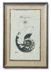 Regina Andrew Nautilus Silkscreen on Aged Linen