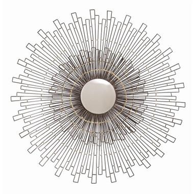 Arteriors zumba iron brass convex mirror for Mirror zumba
