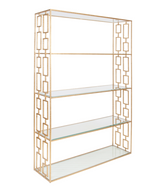 Worlds Away Hays Etagere-Gold Leaf