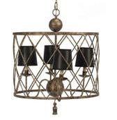 Old World Design Open Basket Weave Chandelier