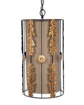 Old World Design Gold Leaf Pendant