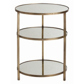 Arteriors Percy Side Table-Antique Brass