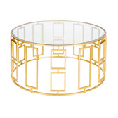 Worlds Away Jenny Coffee Table-Gold