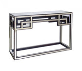Worlds Away Fretwork Mirrored Console
