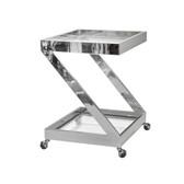 Worlds Away Lenox Nickel Plated Bar Cart