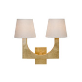 Worlds Away Fritz Gold Leaf Sconce