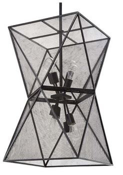 Iron Isosceles chandelier by Regina Andrew Design.