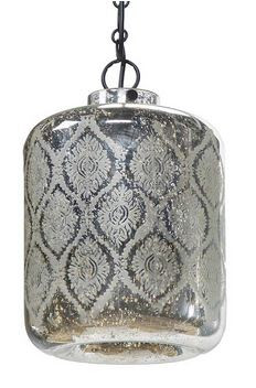 Etched mercury glass Jaipur pendant by Regina Andrew Design.