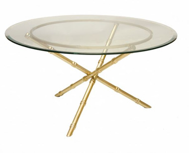 GOLD LEAFED BAMBOO COFFEE TABLE BASE
