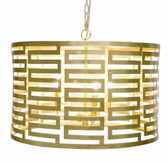 Nova G Gold Leaf Chandelier ceiling lamp chandelier by Worlds Away
