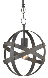 Wrought Iron with Blacksmith Finish Pendant Light by Currey & Co.