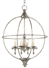 Wrought Iron Rondeau Chandelier by Currey & Co.