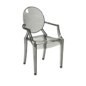 Isadora Transparent Grey Ghost Chair