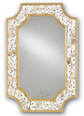 Gold Leaf and Natural Shell Mirror by Currey and Co.