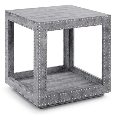 This occasional table is both modern & chic, with python and stud accents to make this the perfect side table for any room.