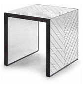 Regina Andrew Chevron End Table-Antique Mirror