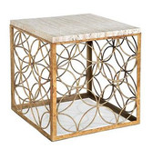 Regina Andrew Gold Leaf Cube Table