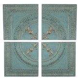 TEAL & GOLD ACCENTED WALL PANELS