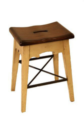 LODGE COUNTER STOOL - CREAM