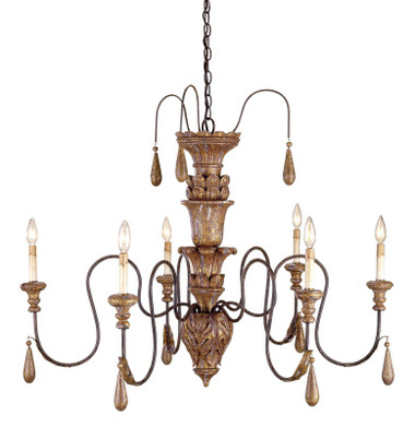 Currey & Company Mansion Chandelier, Small