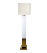Worlds Away Charlotte floor lamp in white