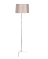 Worlds Away Rene floor lamp in silver