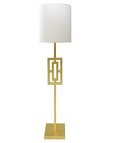Worlds Away Wesley floor lamp in Gold