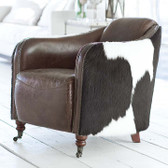 Regina Andrew Vintage Brown Leather Club Chair with Hair