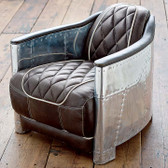 Regina Andrew Aluminum and Leather Bullet Driving Chair