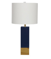 Harper NVY table lamp from Worlds Away