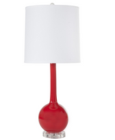 Lydia red table lamp from Worlds Away