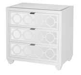 modern lacquer bedside three drawer small scale dresser,with mirrored front and top