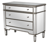 Chic Mirrored chest of drawers for bedroom