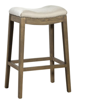 Furniture Classics Linen Backless Bar Stool Designer