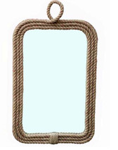 Nautical rope mirror by Accessories Abroad
