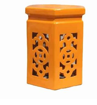 Accessories abroad Coral hexagonal stool
