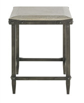 Elemental wrought iron and concrete side table by currey and company