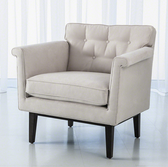 Global Views emerywood chair in suede and the color is arctic