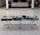 A holstein airline bench from Global Views.